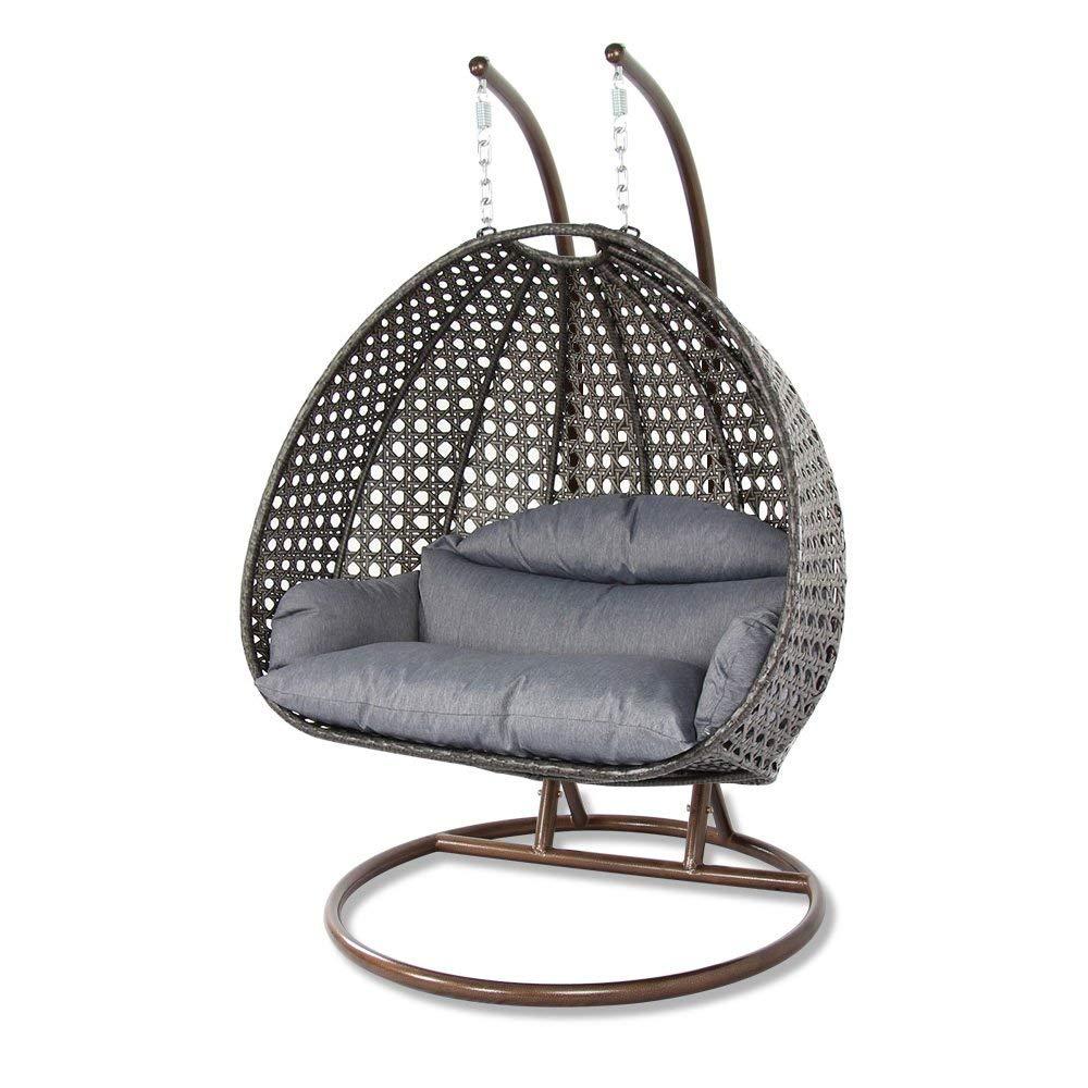 12 Best Hanging Egg Chairs To Buy In 2020 – Outdoor & Indoor With Regard To 2 Person Black Steel Outdoor Swings (View 16 of 25)