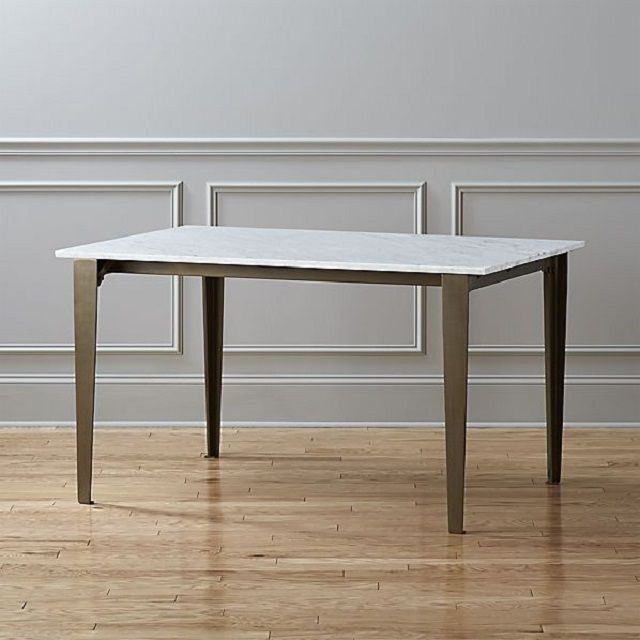 12 New Takes On The Classic Farmhouse Table Inside Acacia Top Dining Tables With Metal Legs (Image 2 of 25)