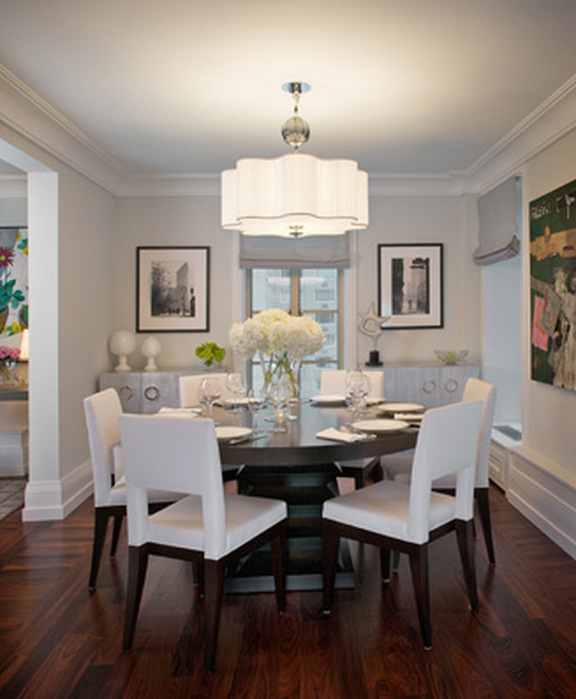 140+ Elegant And Formal Dining Room Designs With Round Table Within Elegance Small Round Dining Tables (View 14 of 25)