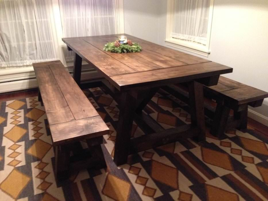 19 Stunning Diy Farmhouse Table Plans [List] – Mymydiy Within Wood Kitchen Dining Tables With Removable Center Leaf (View 22 of 25)