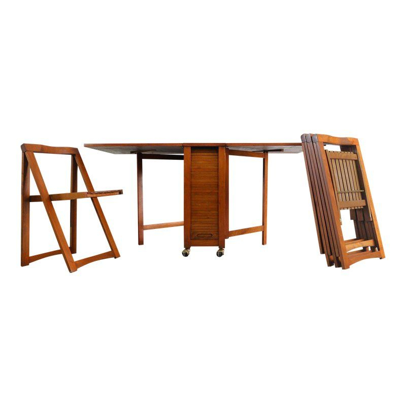 1960S Danish Modern Drop Leaf Hide A Way Table With 4 Regarding Transitional 4 Seating Drop Leaf Casual Dining Tables (Image 3 of 25)