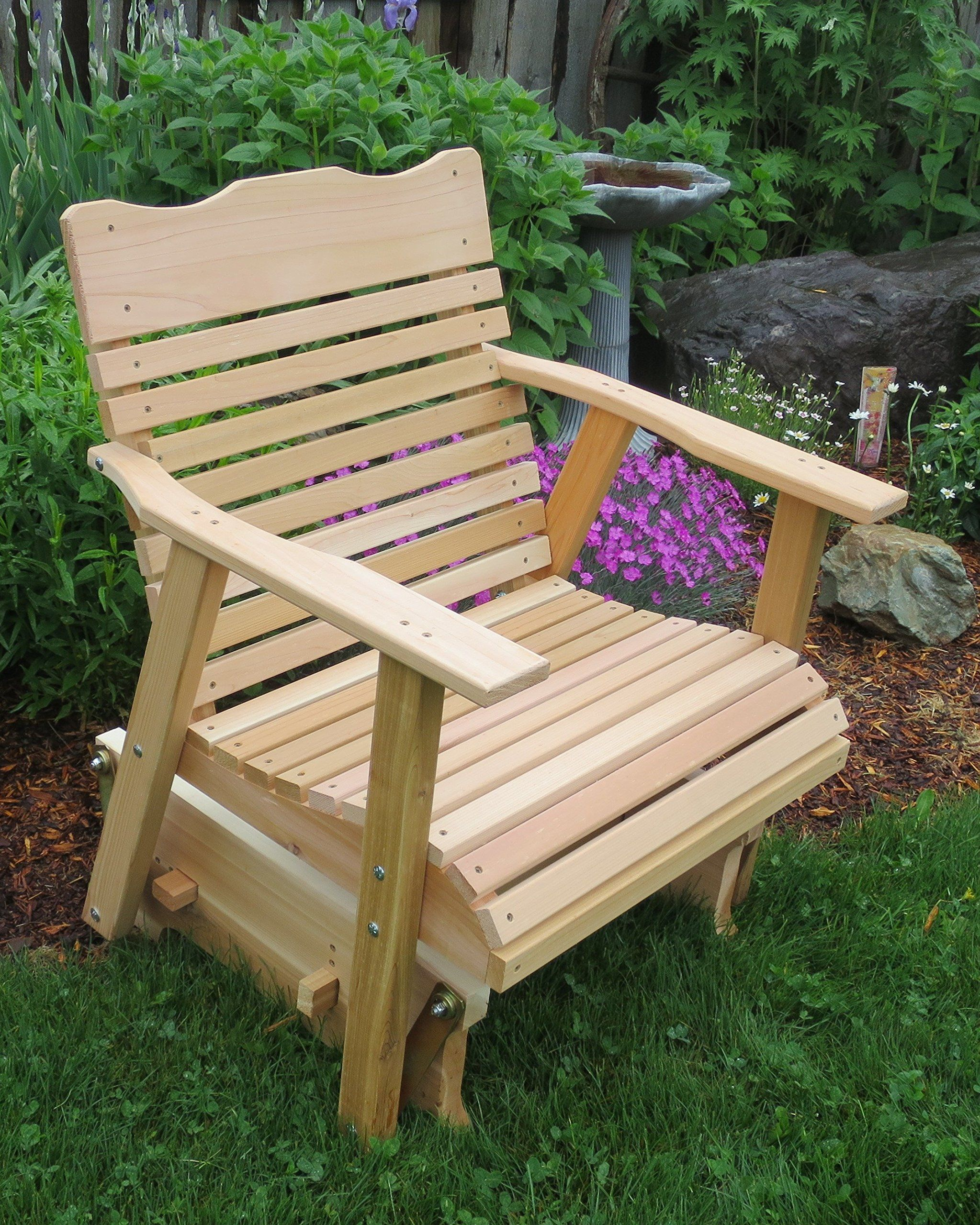 2 Natural Cedar Porch Glider Amish Crafted ** Be Sure To Inside 2 Person Natural Cedar Wood Outdoor Gliders (Image 1 of 25)
