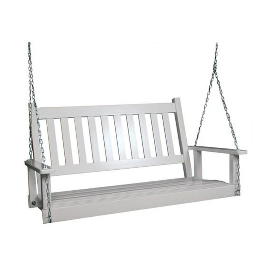 2 Seat Wood Traditional Swing | New House | Porch Swing With Casual Thames White Wood Porch Swings (Image 3 of 25)