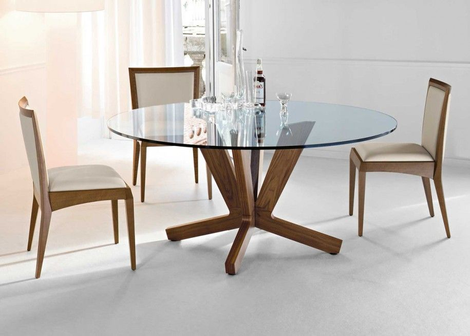 20 Amazing Glass Top Dining Table Designs | Dining Room Regarding Modern Round Glass Top Dining Tables (Image 2 of 25)
