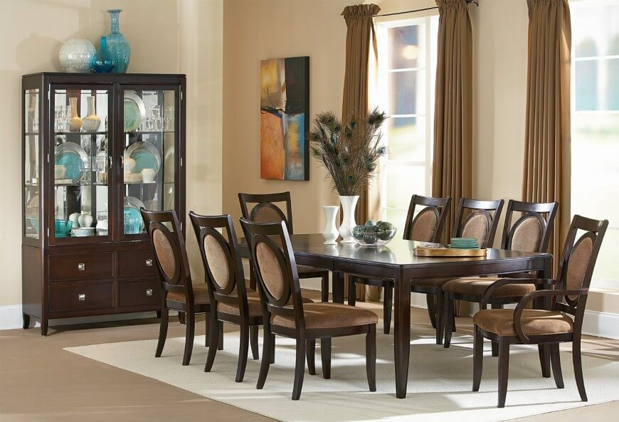20 Wood Rectangle Dining Tables That Seats 6 Under $500 In 8 Seater Wood Contemporary Dining Tables With Extension Leaf (View 23 of 25)