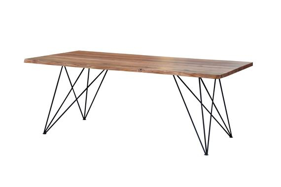 "200"" Long Dining Table Live Edge Solid Acacia Wood Pertaining To Solid Acacia Wood Dining Tables (Image 1 of 25)"