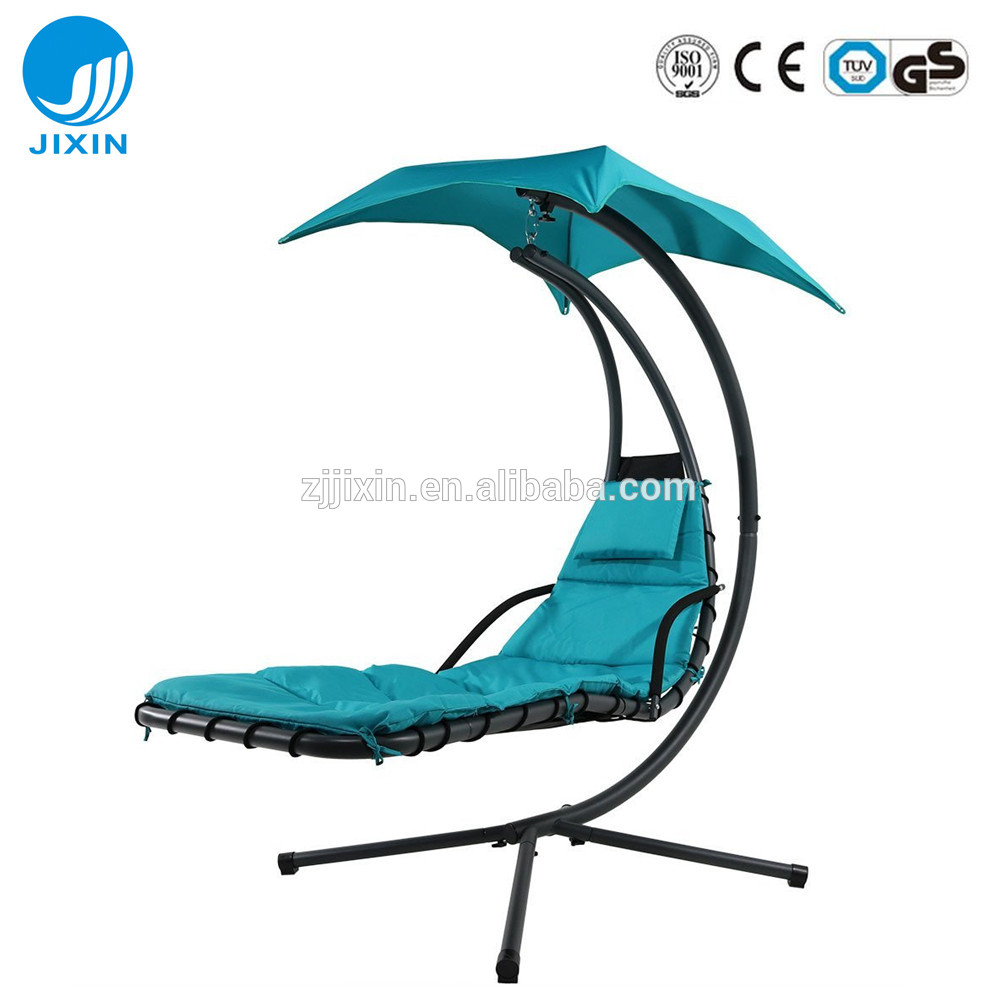 2017 Hanging Chaise Lounger Chair With Umbrella Garden Air Porch Arc Stand Floating Swing Hammock Chair With Canopy – Buy Hanging Chaise Lounger Swing Within Garden Leisure Outdoor Hammock Patio Canopy Rocking Chairs (View 14 of 25)