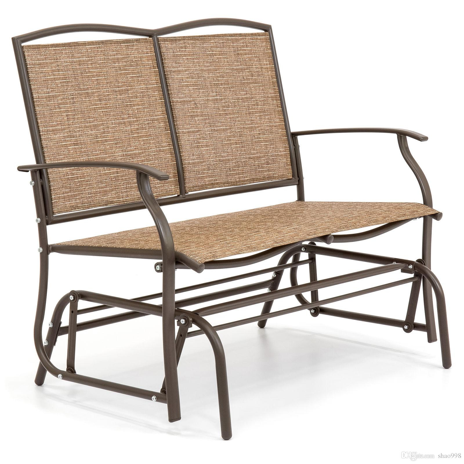 2019 Best Choice Products 2 Person Loveseat Patio Glider Bench Rocker From Shao998, $ (View 6 of 25)