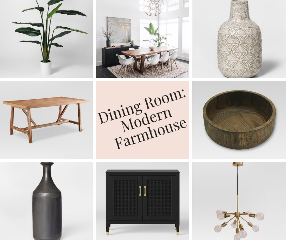 2019 Modern Farmhouse Dining Room Ideas And Inspiration L Regarding Artefac Contemporary Casual Dining Tables (Image 1 of 25)