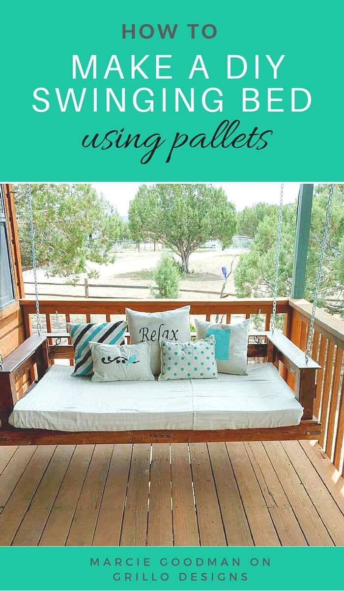 21 Best Diy Porch Swing Bed Ideas And Designs For 2020 For Hanging Daybed Rope Porch Swings (Image 3 of 25)