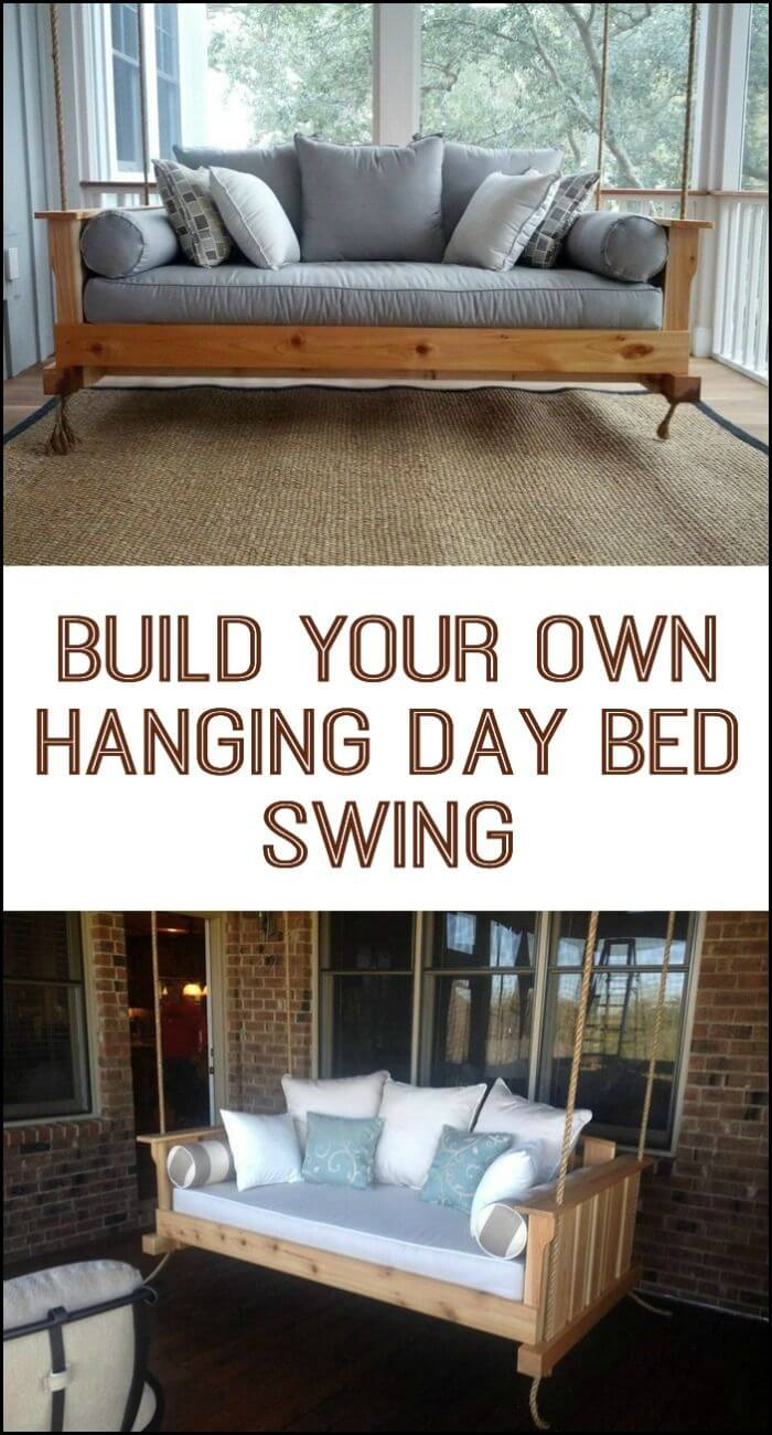 21 Best Diy Porch Swing Bed Ideas And Designs For 2020 With Country Style Hanging Daybed Swings (View 23 of 25)