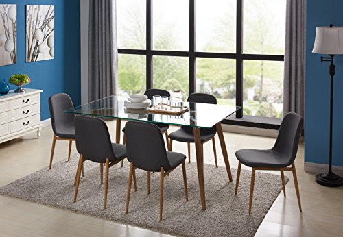 22 Great Dining Sets   Catalogue Of Furniture Within Eames Style Dining Tables With Chromed Leg And Tempered Glass Top (View 7 of 25)