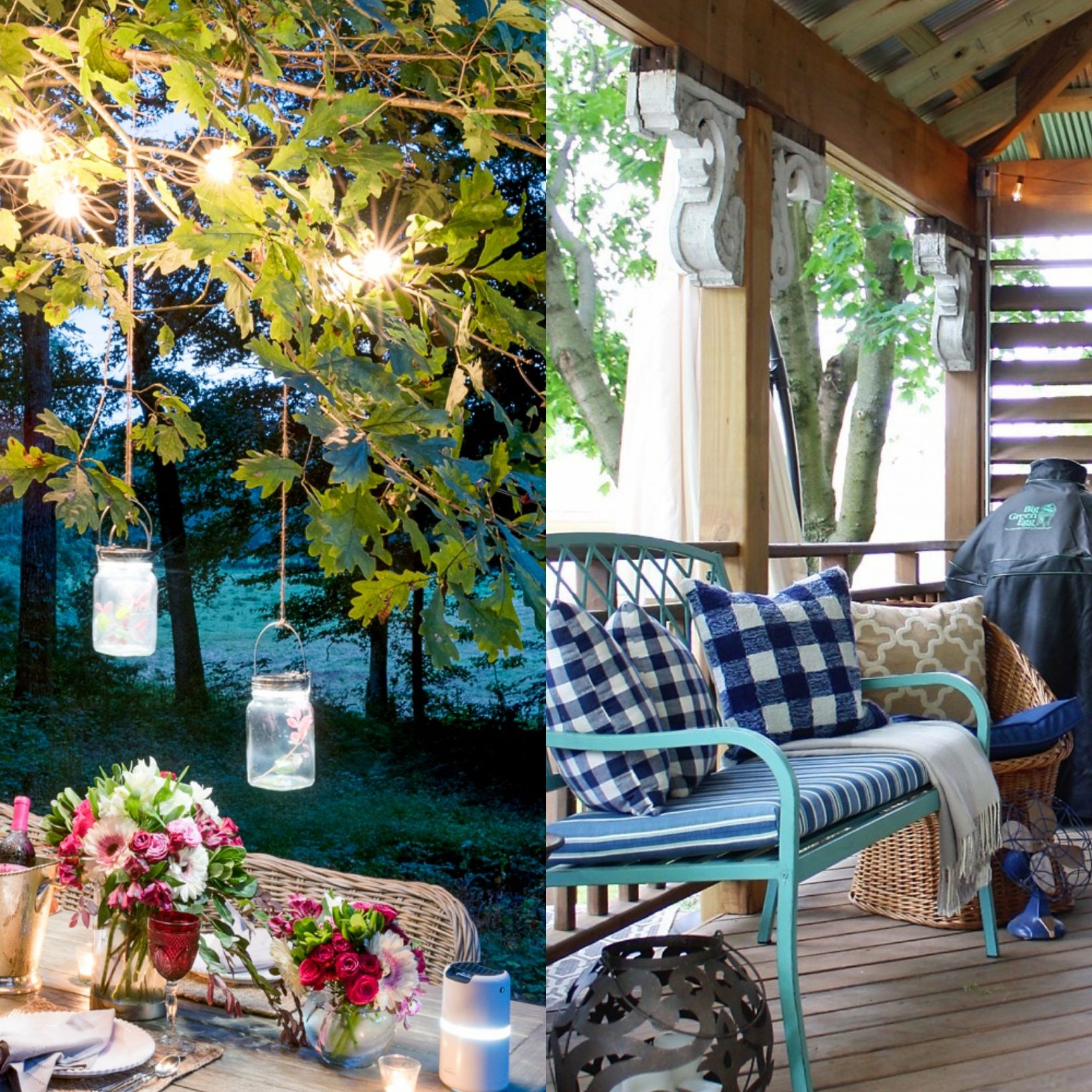 25 Backyard Lighting Ideas – How To Hang Outdoor String Lights With Lamp Outdoor Porch Swings (View 17 of 25)