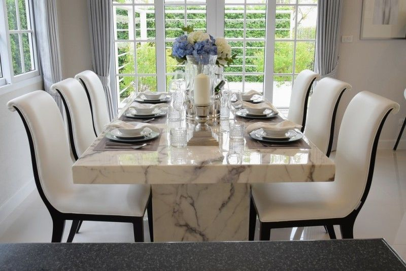 27 Modern Dining Table Setting Ideas   Dining Table Design With Regard To Contemporary 6 Seating Rectangular Dining Tables (View 11 of 25)