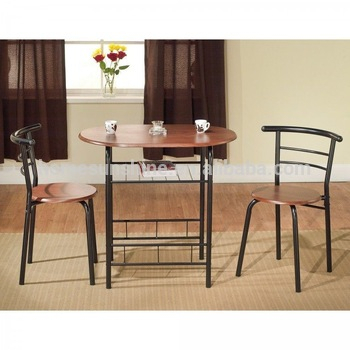 3 Piece Bistro Dining Set Breakfast Nook Kitchen Dining Table & Chair – Buy  Table And Chair Set,dining Round Table And Chair Set,space Saving Dining Throughout 3 Pieces Dining Tables And Chair Set (Photo 6 of 25)