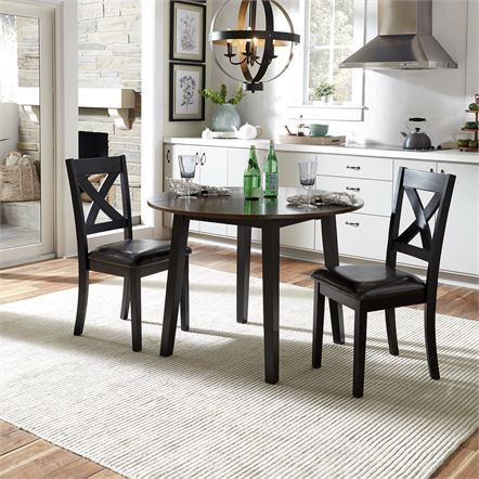 3 Piece Dining Dining Set | Liberty Furniture Regarding Transitional 3 Piece Drop Leaf Casual Dining Tables Set (Photo 17 of 25)