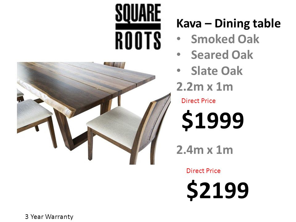 3 Year Warranty. Starburst Table Seared Oak Smoked Oak 2.4Mx With Regard To Dining Tables In Smoked Seared Oak (Photo 7 of 25)