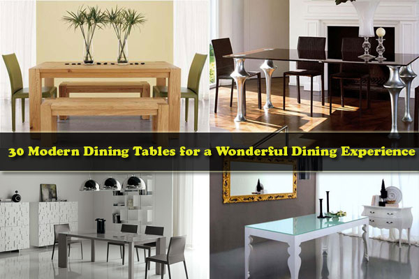 30 Modern Dining Tables For A Wonderful Dining Experience Pertaining To Long Dining Tables With Polished Black Stainless Steel Base (View 23 of 25)