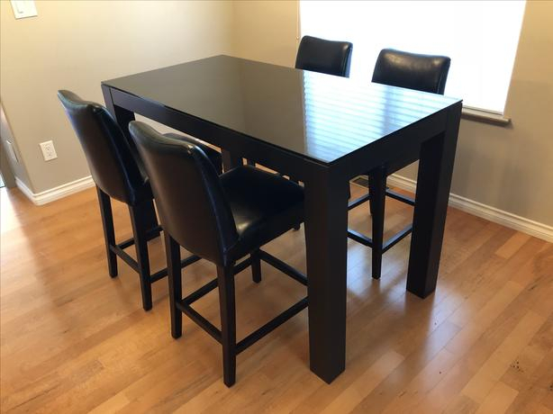 $300 · Dining Table – Condo Size / Bar Stool Height Throughout Glass Top Condo Dining Tables (View 12 of 25)
