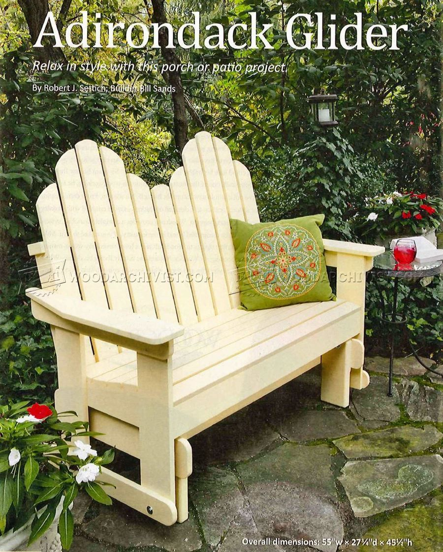 3181 Adirondack Glider Bench Plans – Outdoor Furniture Plans With Regard To Classic Adirondack Glider Benches (View 7 of 25)