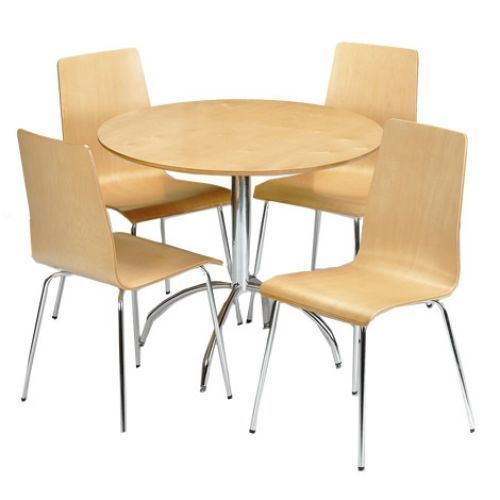 Featured Image of 4 Seater Round Wooden Dining Tables With Chrome Legs