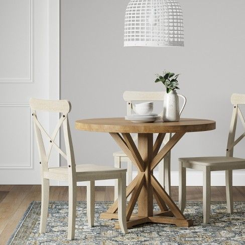 Featured Image of Small Dining Tables With Rustic Pine Ash Brown Finish