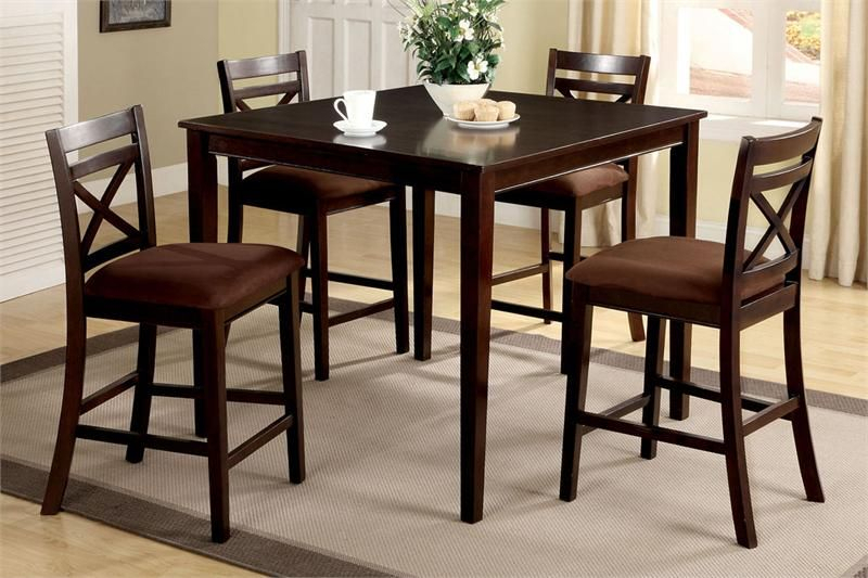 """42"""" Weston Ii Square Espresso Counter Height Set 