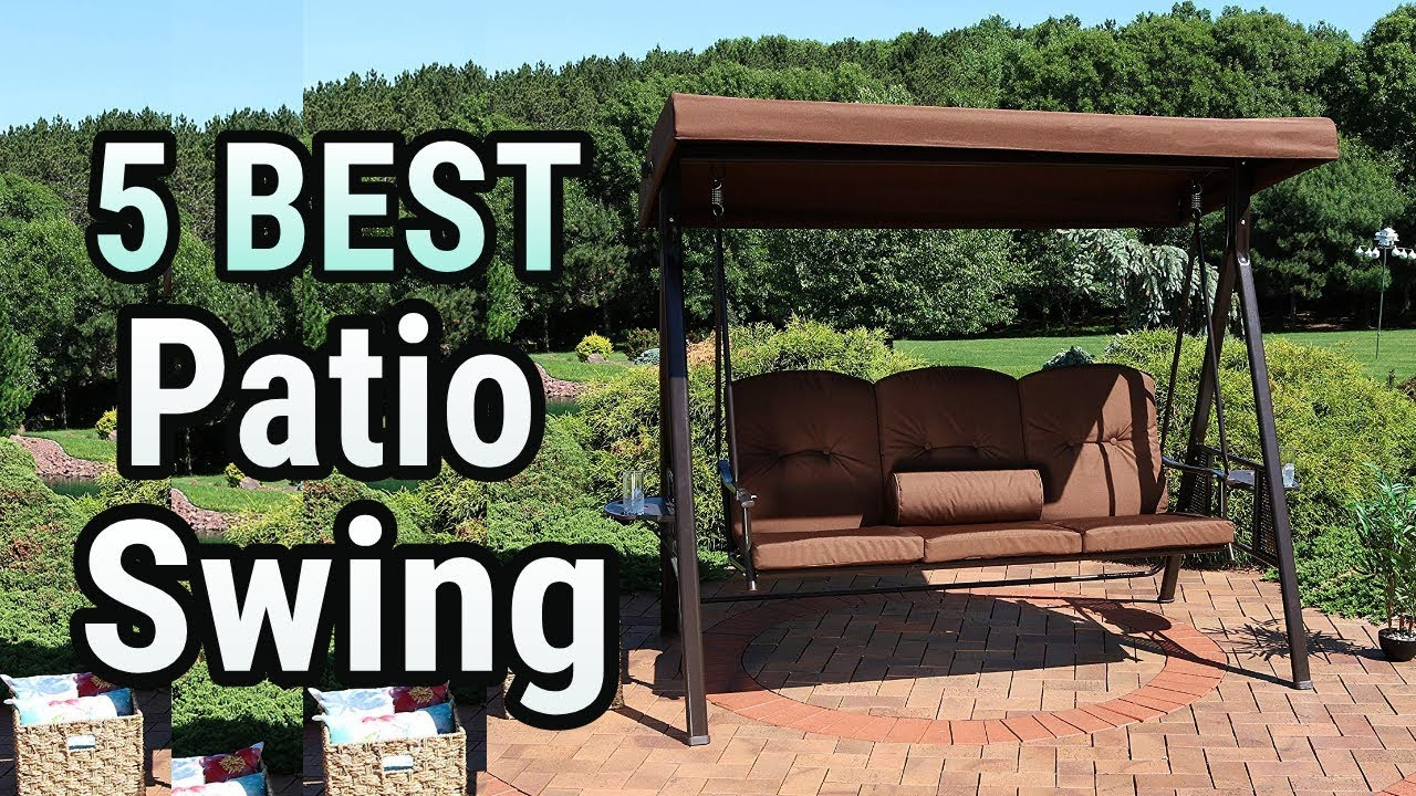 5 Best Patio Swing 2019 With Regard To 2 Person Adjustable Tilt Canopy Patio Loveseat Porch Swings (Image 2 of 25)