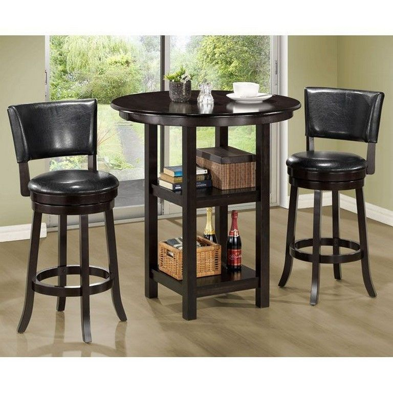 55 Awesome Dining Table Decoration For Small Spaces – Page Pertaining To Transitional 3 Piece Drop Leaf Casual Dining Tables Set (View 5 of 25)
