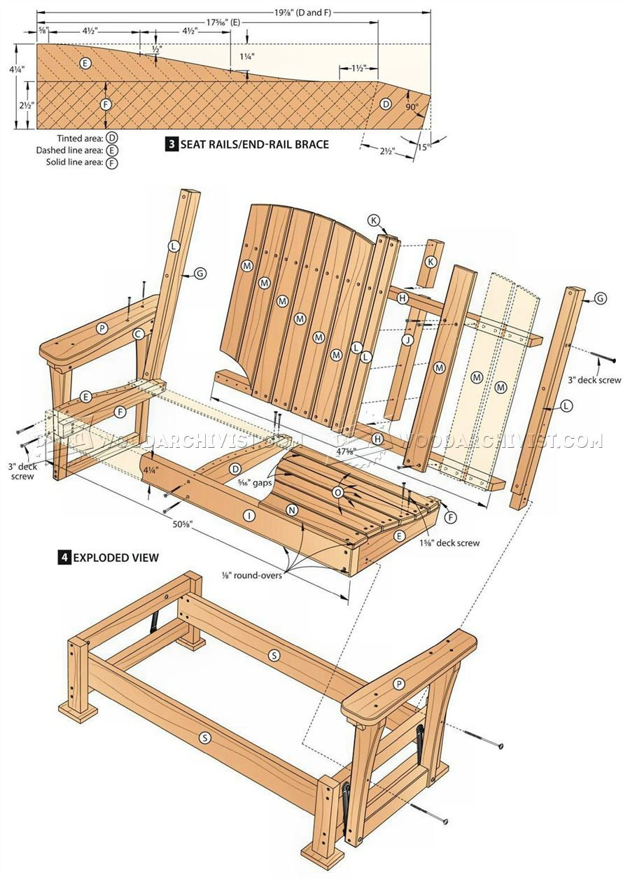 57 Glider Bench Plans – Outdoor Furniture Plans | Outdoor With Cedar Colonial Style Glider Benches (View 6 of 25)