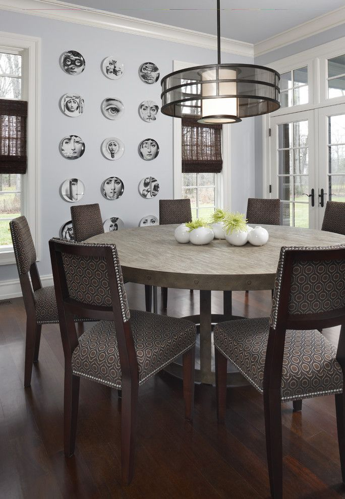 6 Chair Round Dining Table | Large Round Dining Table In Contemporary 4 Seating Square Dining Tables (View 7 of 25)