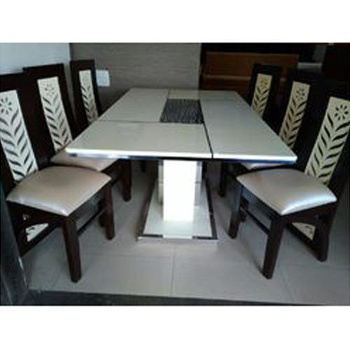 6 Seater Stone Dining Table Set In 6 Seater Retangular Wood Contemporary Dining Tables (View 9 of 25)