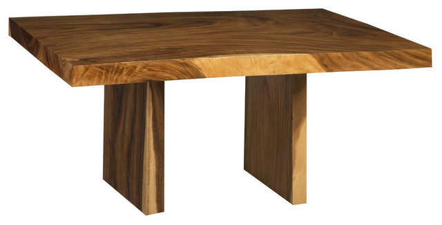 "60"" L Dining Table, Acacia Wood, Live Edge Light/dark Brown Grain Smooth  Solid Inside Solid Acacia Wood Dining Tables (Image 2 of 25)"