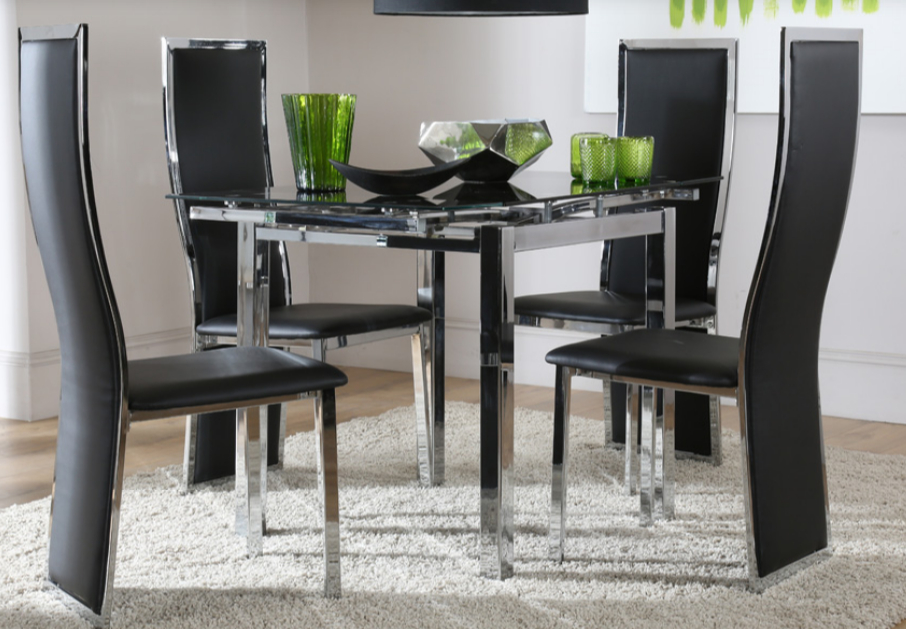 7 Contemporary Glass Square Dining Tables – Cute Furniture Uk In Chrome Contemporary Square Casual Dining Tables (View 19 of 25)
