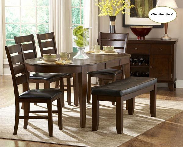 "76"" Amelia Casual Oval Dining Table Set In 2019 