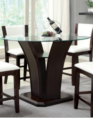 9 Dark Round Dining Tables For A Contemporary Dining Room Within Modern Round Glass Top Dining Tables (Image 3 of 25)
