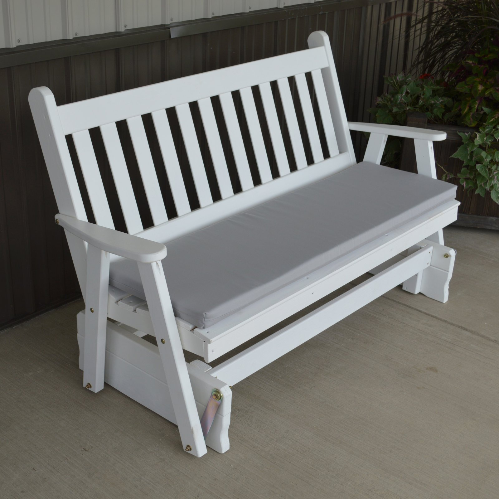 A & L Furniture Yellow Pine Traditional English Outdoor Bench Glider With Traditional English Glider Benches (View 18 of 25)