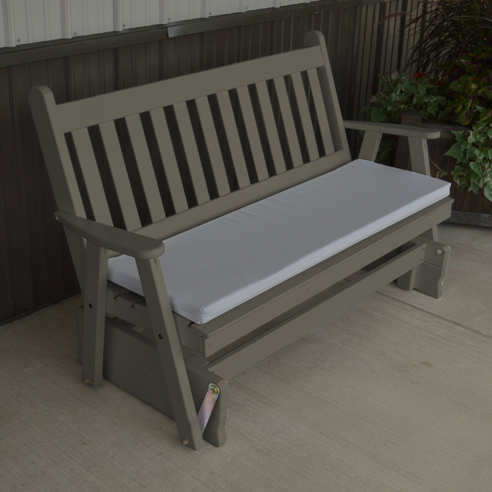 A & L Furniture Yellow Pine Traditional English Outdoor With Traditional English Glider Benches (View 11 of 25)