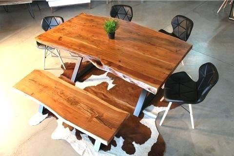 Acacia Dining Table Canada – Spsbreazaph Intended For Acacia Dining Tables With Black X Leg (Image 4 of 25)