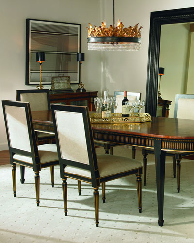 Acacia Dining Table | Neiman Marcus Regarding Acacia Dining Tables With Black Victor Legs (Image 2 of 25)