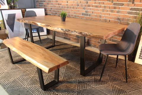 Acacia Dining Table With Regard To Dining Tables With Black U Legs (View 15 of 25)