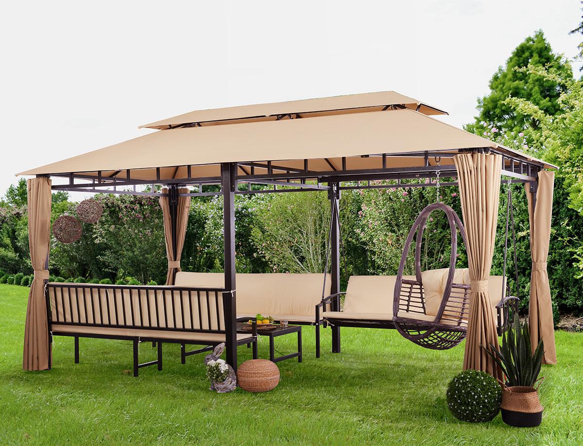 Ajanta All In One Gazebo For Patio Gazebo Porch Canopy Swings (View 25 of 25)