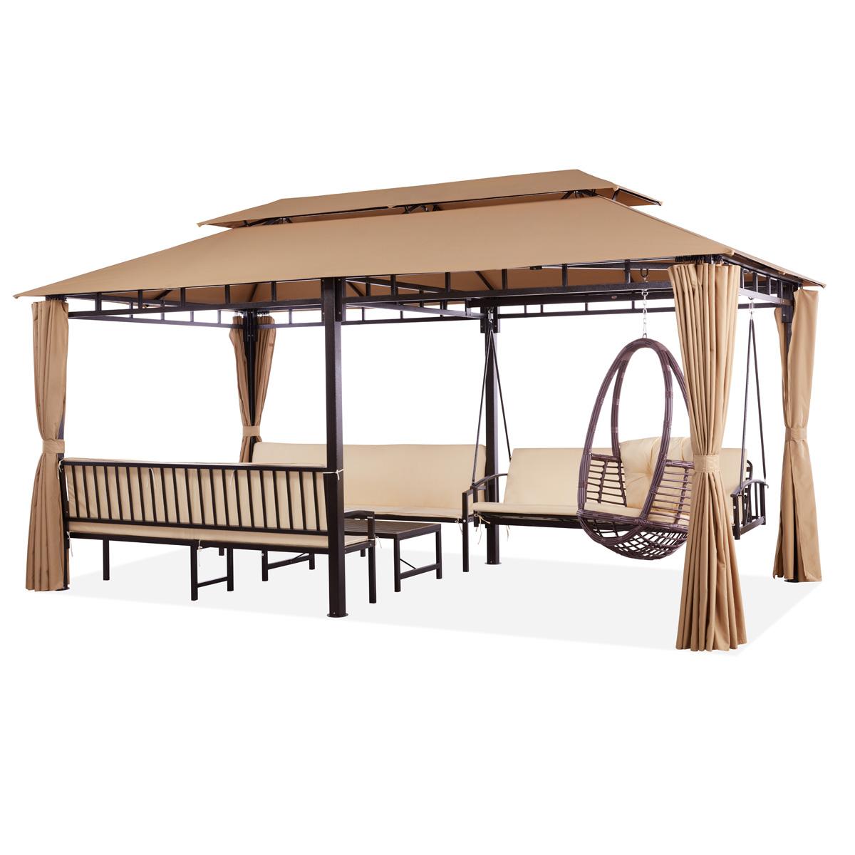 Ajanta All In One Gazebo Regarding Patio Gazebo Porch Canopy Swings (View 21 of 25)