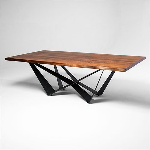 Aksel Dining Table | Furniture, Dining Table Design, Table Intended For Acacia Wood Top Dining Tables With Iron Legs On Raw Metal (Image 5 of 25)