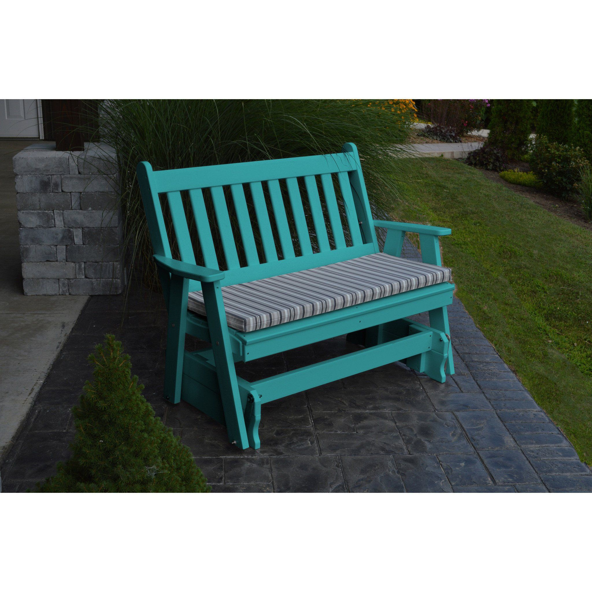 A&l Furniture Company Traditional English Recycled Plastic With Traditional English Glider Benches (View 4 of 25)