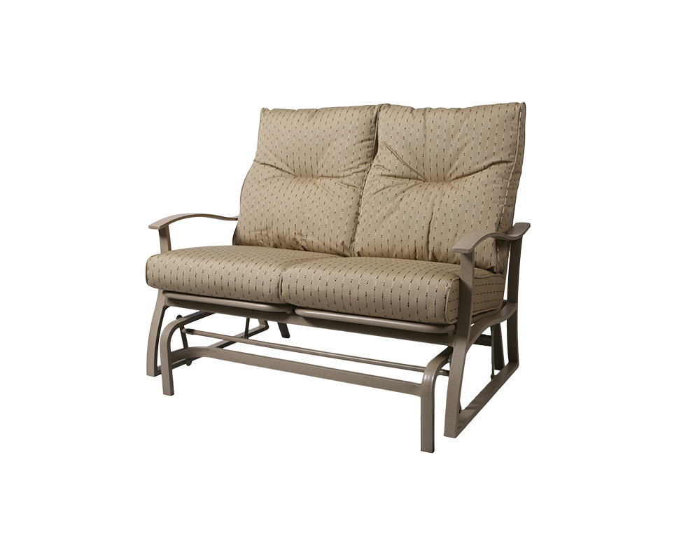 Albany Loveseat Glider – Green Acres Outdoor Living Within Outdoor Loveseat Gliders With Cushion (View 21 of 25)