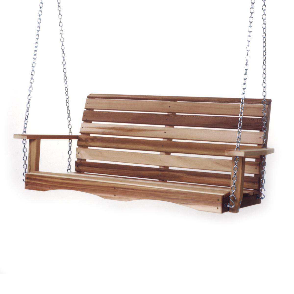 All Things Cedar Patio Furniture Adirondack Chairs Porch Regarding 5 Ft Cedar Swings With Springs (View 7 of 25)