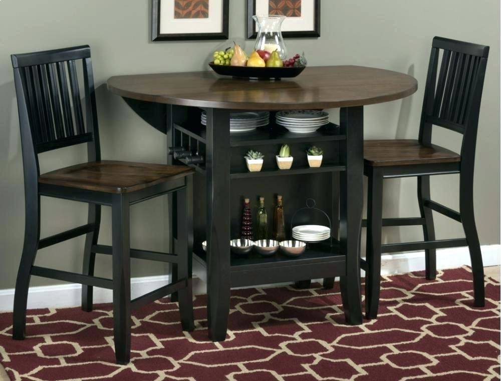 Alluring 48 Round Wood Kitchen Table Furniture Appealing Within Antique Black Wood Kitchen Dining Tables (View 17 of 25)