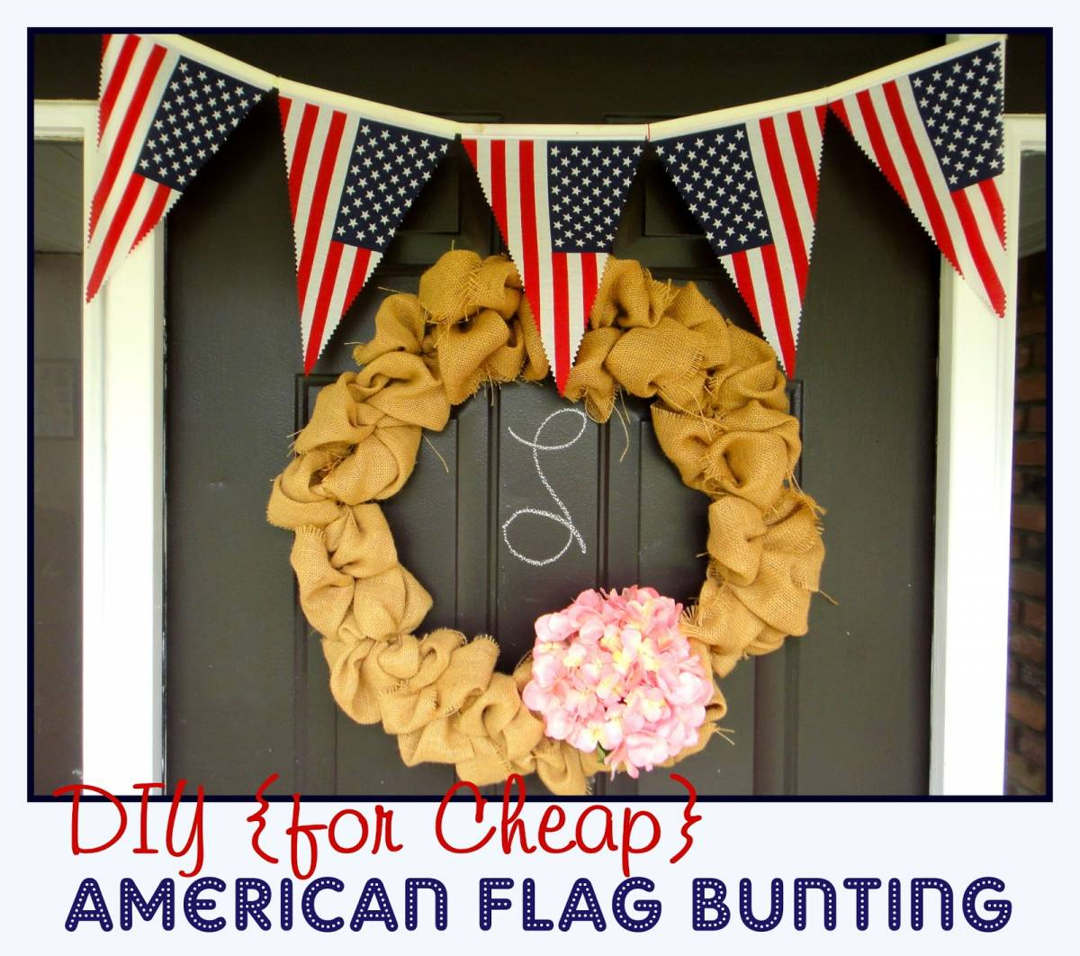 American Flag Bunting Tutorial | All Things With Purpose Throughout American Flag Porch Swings (View 23 of 25)