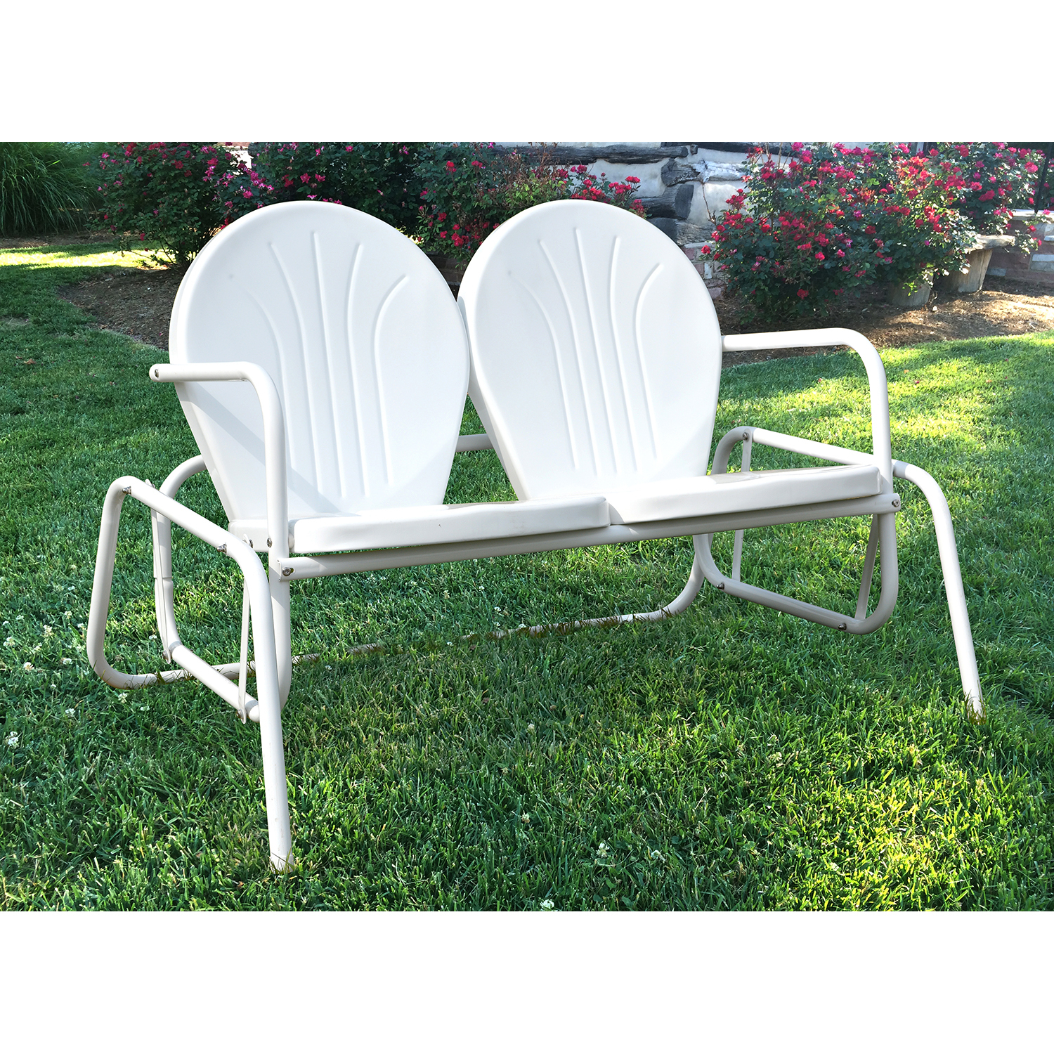 Amerihome Mcdsg Double Seat Glider With Metal Powder Coat Double Seat Glider Benches (View 10 of 25)